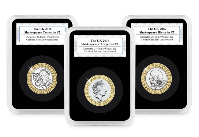 771k - The Shakespeare £2 coins have been released into circulation...