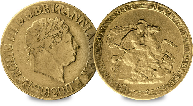1820 george iii sovereign mt - 22nd June 1816... The day Britain's coins changed forever