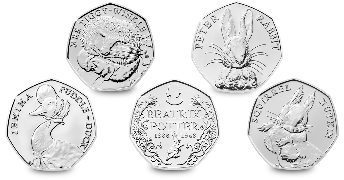 change checker facebook 5 beatrix potter 50 pence 1 - Poll: Which 2016 Coin design is your favourite?