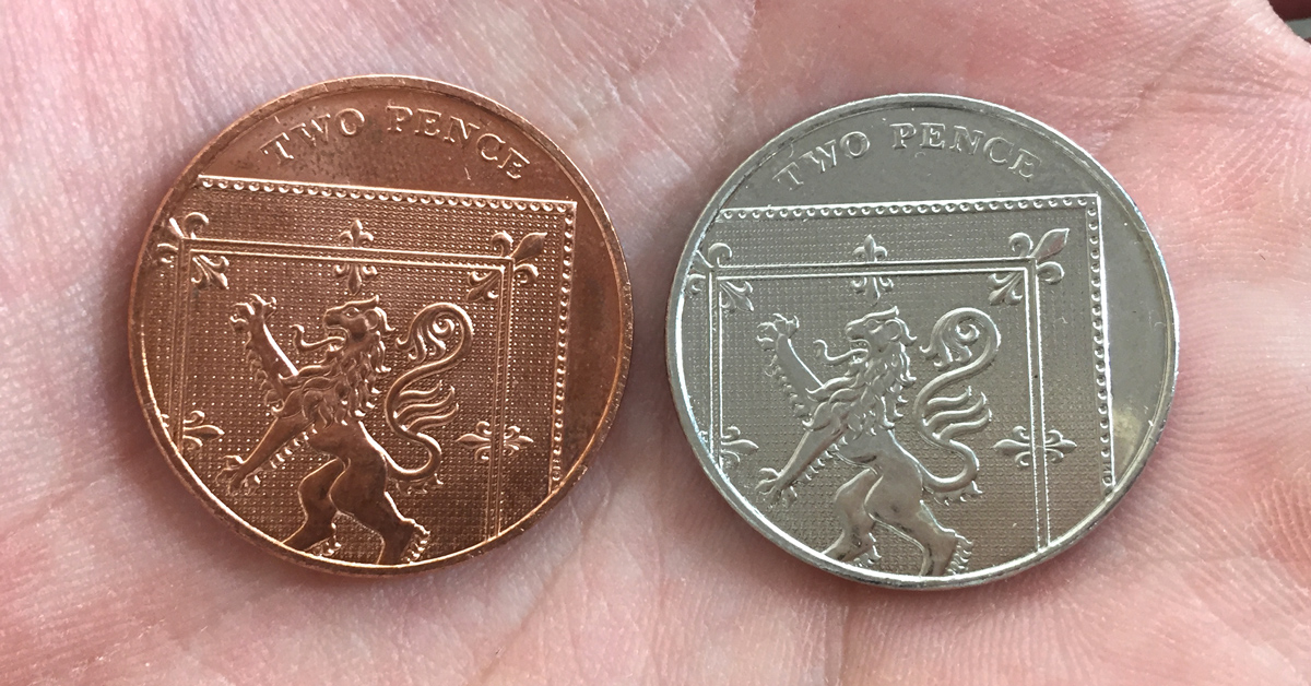 "st silver 2p error coin facebook banner - Rare ""silver"" 2p found in charity tin to be given away to a Change Checker."
