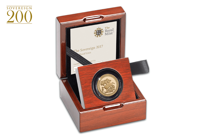 bicentenary proof sovereign 2017 box - 200 years of the Sovereign - Britain's flagship coin