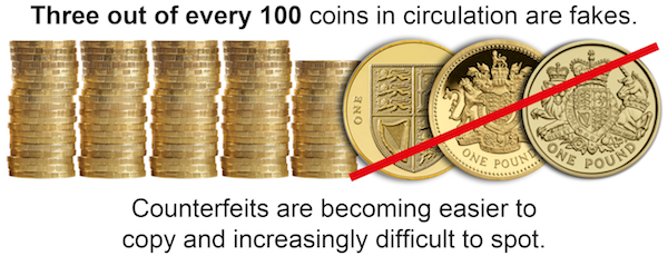 change checker one pound fakes - Could you spot a fake £1 coin?