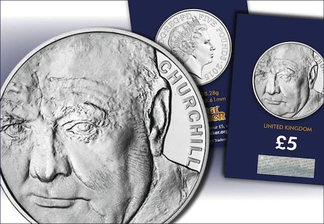 churchill 5 pound coin - Churchill – the only statesman commemorated on THREE British Crowns