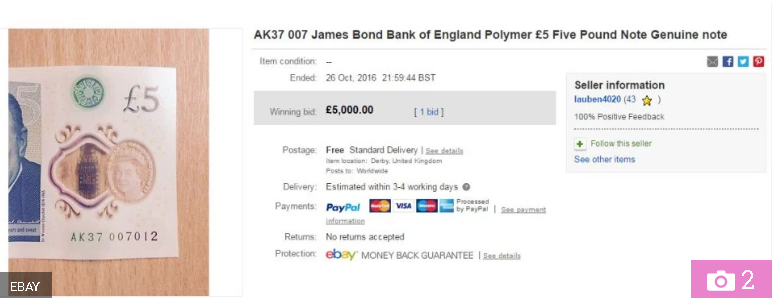 untitled - Why your AK47 £5 note isn't worth £80,000 and other myths about the polymer banknote