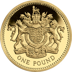 1983 c2a31 gilded crest - The Great One Pound Coin Race Starts Today – just 250 days to own a complete £1 Coin Collection