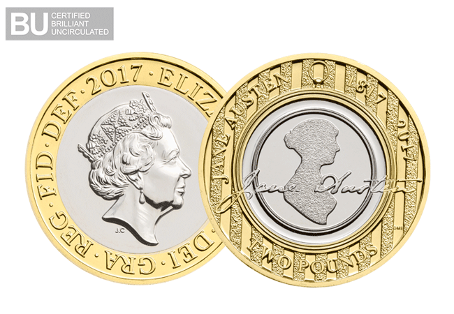 2017 jane austen two pound coin - Pride without prejudice - how Jane Austen came to appear on our coins and banknotes in 2017.