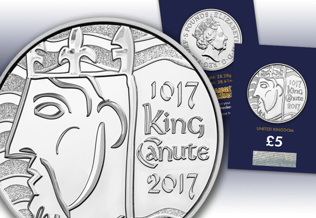king canute coin and coin pack - Who was King Canute and why is he on the new UK £5?