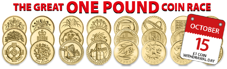 change checker presents the great one pound coin race blog1 - The Great One Pound Coin Race Starts Today – just 250 days to own a complete £1 Coin Collection
