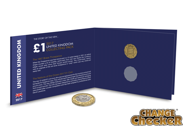 hw the story of 1 pound 2017 uk collectors pack open 1 - 50 years in the making – from 3d to £1: the story behind the new £1 coin