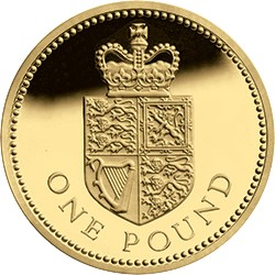 crowned shield - STOP: the five £1 coins you must NOT cash in!