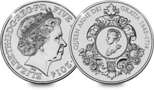 2014 Queen Anne 5 300x177 - Revealed: The UK's rarest £5 Coin