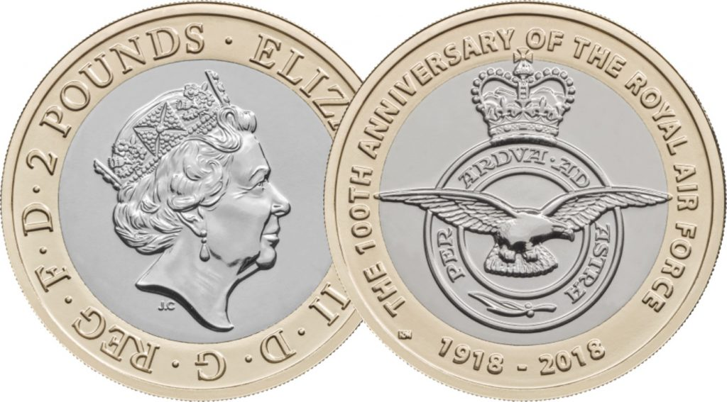 RAF Centenary OB and REV 1024x567 - First look: New Royal Mint coin designs for 2018!
