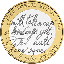 Burn - Britain's literary heroes celebrated on coins...