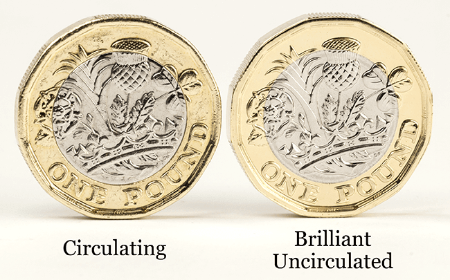 Change Checker 1 Pound Circulated BU Comparison 1 - How much is my coin worth? - A five point guide.