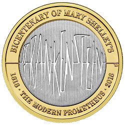 Change Checker 2018 Commemorative Coins Frankenstein - Britain's literary heroes celebrated on coins...