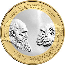 Darwin - Britain's literary heroes celebrated on coins...