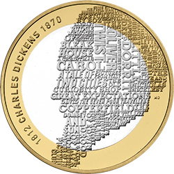 Dickens - Britain's literary heroes celebrated on coins...