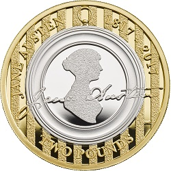 Jane Austen - Britain's literary heroes celebrated on coins...