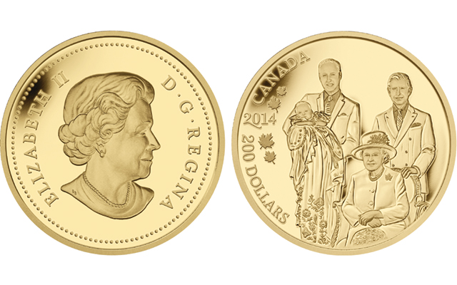 RCM gold 200 dollar Royal Generations - The brand new £5 coin we've all been waiting for!