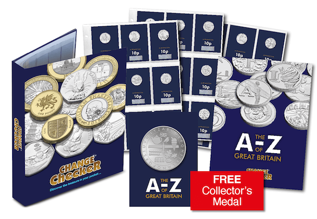 A Z Complete Early Strike 10p Set Main - We're giving away 500 Early Strike A-Z of Great Britain 10p coins!