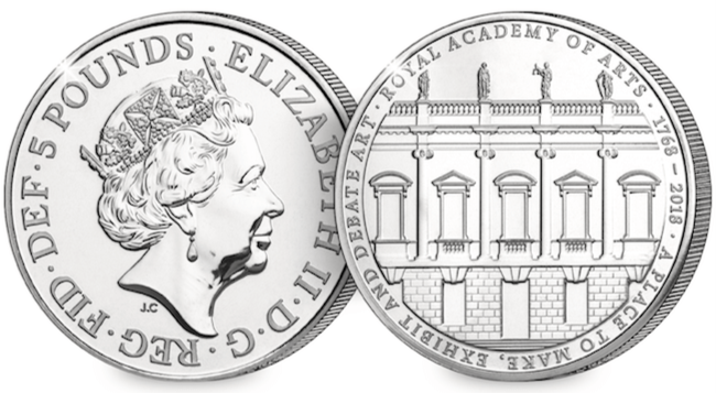 RA coins - The UK's brand new £5 coin is the rarest of them all!