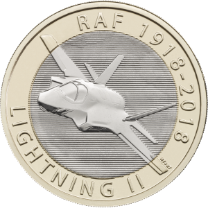 Lighnting 300x300 - New £2 coin series announced to commemorate RAF centenary