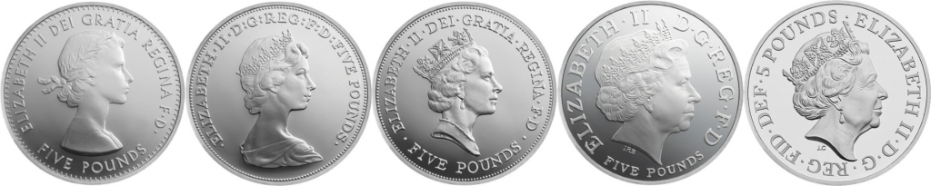 Queens Portraits 1024x205 - Influential women who have featured on UK coins