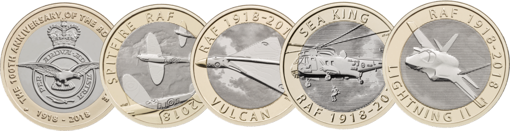 RAF COINS 1024x263 - New £2 coin series announced to commemorate RAF centenary