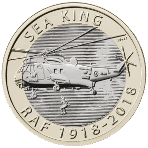 Sea King 300x300 - New £2 coin series announced to commemorate RAF centenary