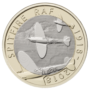 Spitfire 300x300 - New £2 coin series announced to commemorate RAF centenary