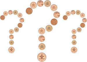 coin question marks 300x213 - Time for change? What is the future for 1p and 2p coins?