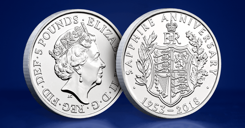 Coronation 65th 5 Pound Coin 1 1024x536 - Britain's longest reigning Monarch celebrates another historic milestone