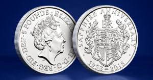 Coronation 65th 5 Pound Coin 1 300x157 - Britain's longest reigning Monarch celebrates another historic milestone