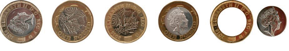 Misalignment - Spot the difference! Variations in the 12 sided £1 explained.
