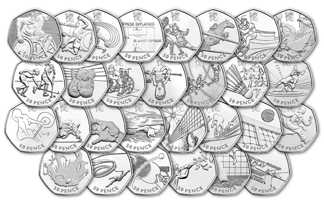 29 olympic 50p coins1231 - Do you own the rarest Olympic 50p?