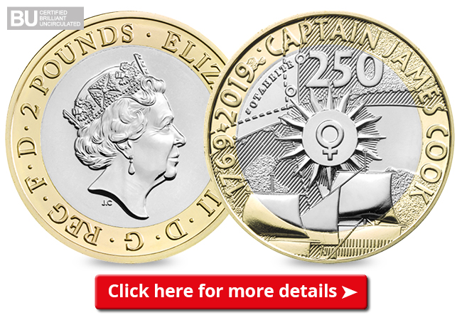 DN change checker 2019 captain cook CuNi BU 2 coin email banner - Embark on a Voyage to Discover the NEW £2 Captain Cook Coin Collection