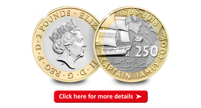 Picture2 1 - Embark on a Voyage to Discover the NEW £2 Captain Cook Coin Collection