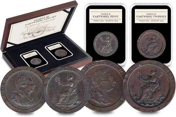ST George III Cartwheel Coin Set - The remarkable story of when a British 2 pence weighed the same as a Mars Bar…