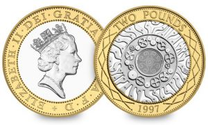 queen with necklace 300x181 - Happy Birthday to the £2 coin!