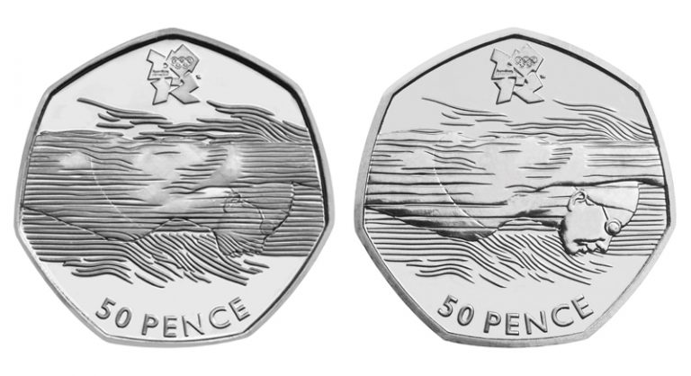 st change checker spot the difference olympics aquatics 50p coin 2 768x418 - Do you own the rarest Olympic 50p?