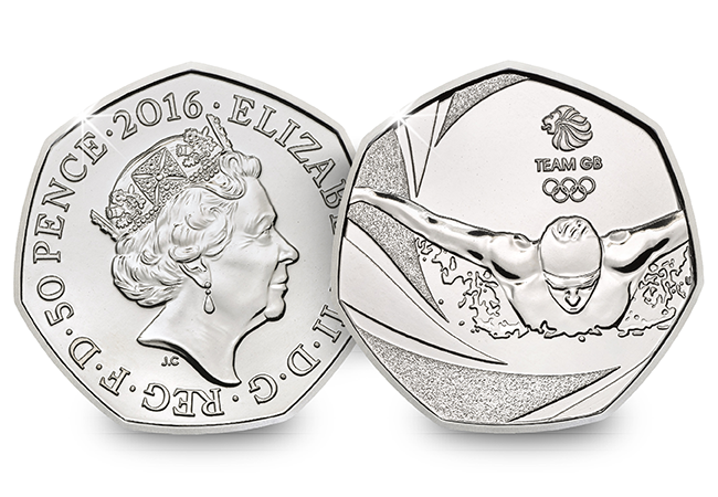 team gb 2016 united kingdom 50p bu coin uku01856 - Do you own the rarest Olympic 50p?