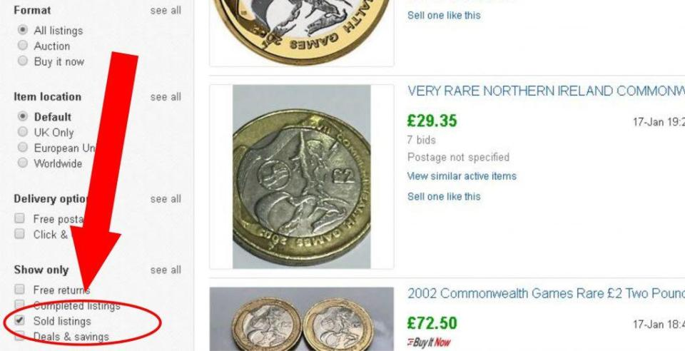 ebay recently sold 1024x525 - Could I be minted? The 6 point guide to valuing your coin!