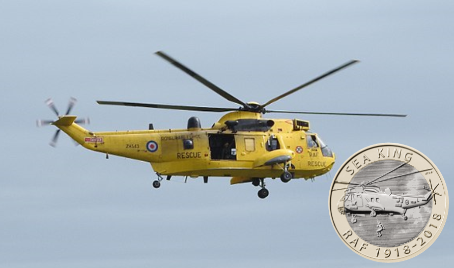 sea king - 2018's most popular RAF £2 revealed!