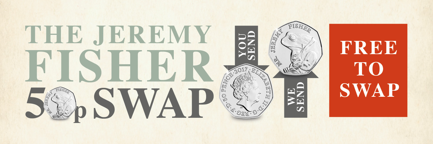 DN 2018 Beatrix Potter Jeremy Fisher 50p swap twitter banner - Home
