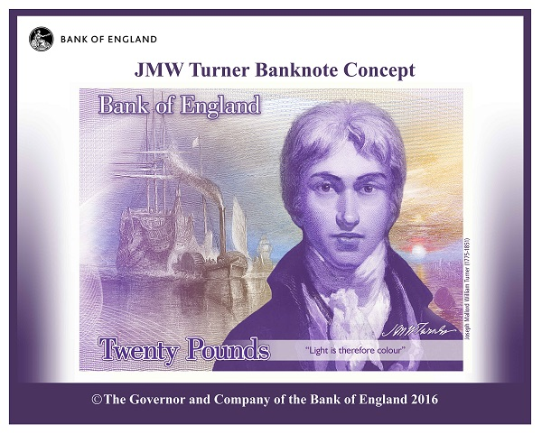 20 note concept image - Who would you like to see on the new polymer £50 note?