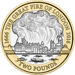 2016 Great Fire of London - UPDATED: Vote for Britain's top historical coins!