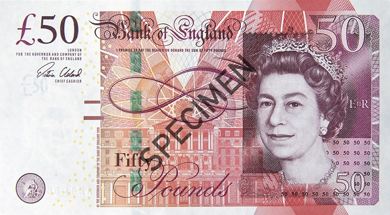 50 specimen front - Who would you like to see on the new polymer £50 note?