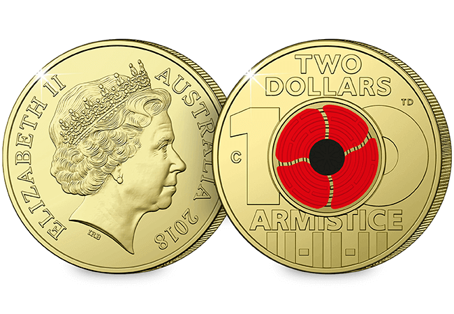 AT Change Checker Armistice Pack Mock Up Australia 2 Dollar - Discover the coins issued to mark the Armistice centenary from around the world...