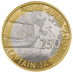 Captain cook img - What's your favourite £2 coin design of the year 2018?