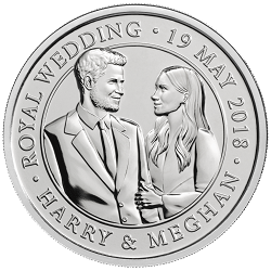 Celebrating the Royal Wedding HRH Prince Harry Ms. Meghan Markle 2018 - What's your favourite £5 coin design of the year 2018?